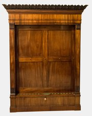 19th Century Flame Mahogany Cue Stand