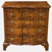 19th c. Dutch Walnut Chest Of Drawers