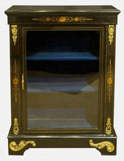19th c. Ebonised Pier Cabinet