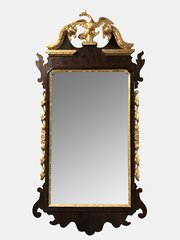 19th c Gilt And Mahogany Wall Mirror