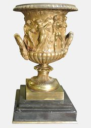 19th c. Gilt Bronze Urn