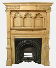 19th c. Pine Panelled Fire Surround