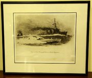 WW1 Etching By W L Wyllie