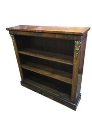 Antique Walnut Open Bookcase
