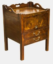 Bedside Commode with Sliding Front Flap