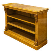 Birds Eye Maple Open Bookcase