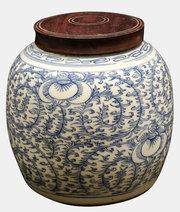 Chinese Blue & White Ginger Jar