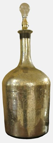 Decorative Table Lamp in French Wine Bottle Form