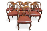 Eight 19th c. Mahogany Dining Chairs