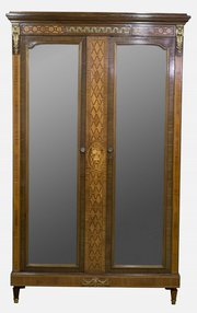 French Mahogany & Kingwood Armoire