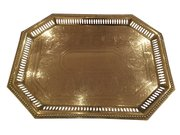 Galleried 19th c. Brass Tray