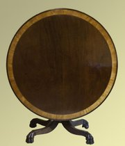 George III Circular Tilt Top Table