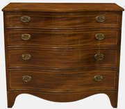 Georgian Serpentine Fronted Chest of Drawers