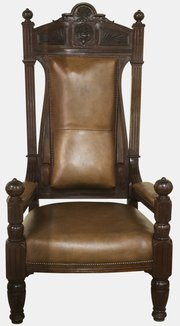 Impressive 19th Century Throne Chair