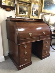 Large 19th Century Mahogany Cylinder Desk