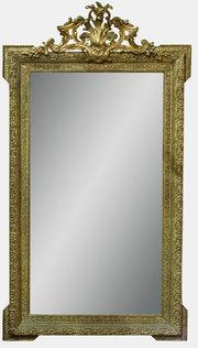 Large Victorian Rococo Mirror