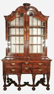 Magnificent 18thC Walnut Cabinet