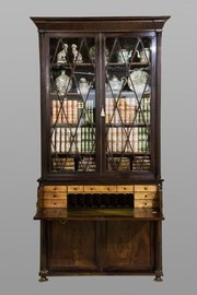 Mahogany Secretaire Cabinet Bookcase