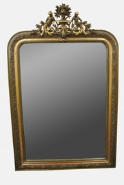 Ornate Giltwood Overmantel Mirror