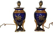Pair Of French Art Deco Vase Lamps