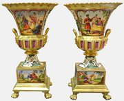Pair Of French Parcel Gilt Vases