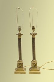 Pair Of Large Brass Lamps