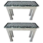 Pair Of Marble Top Console Tables