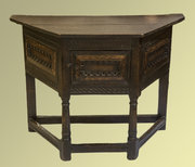 Rare Early Oak Credence Table