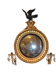 Regency Eagle Crested Convex Mirror