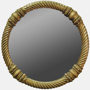 Regency Rope Twist Circular Mirror