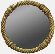 Regency Rope Twist Circular Mirror