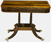Rosewood & Boxwood Inlaid Card Table