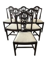 Set Of Six Hepplewhite Dining Chairs