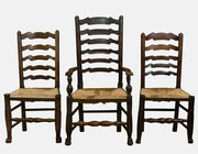 Set of 8 Ladderback Chairs