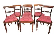 Set of Six Fine Regency Rosewood Dining Chairs