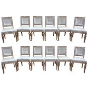 Twelve Gillows Antique Dining Chairs