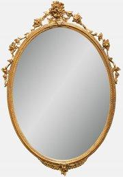Victorian Oval Gilt Mirror