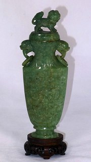 19th Century Chinese Jade Vase
