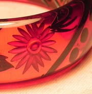 Art Deco Carved Bakelite Bangle