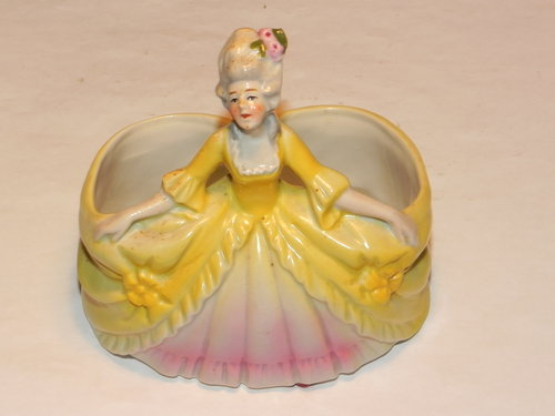 Crinoline Lady Dressing Table Brush Bottle Holder