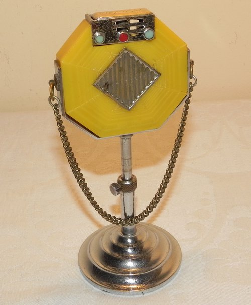 Rare 1940's Microphone Table Lighter KSS