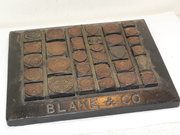 Rare Stephenson Blake & Co Printing Blocks