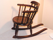 Small Victorian Childs Oak Rocking Chair