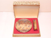 Vintage 1950's Powder Compact & Lipstick Gift Set