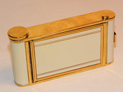 Vintage Art Deco Enamel Camera Powder Compact