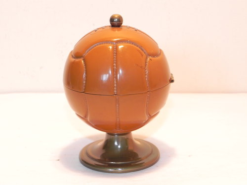 Vintage Casey Football Ball Table Lighter