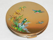 Vintage Stratton Kingfisher Powder Compact