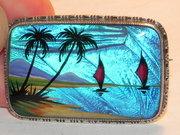 Vintage TLM Mott Silver Butterfly Wing Brooch