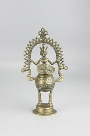 19th Century Indian Dhokra Bronze Lakshmi Owl