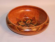 A Clews Chameleon Ware Brown Flame Bowl